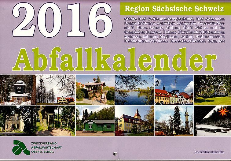 Abfallkalender 2016