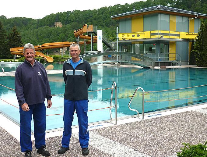 alter und neuer Schwimmmeister in Wehlen 2016