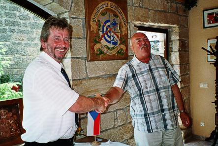 Partnerschaft Bürgermeister Herr Repa und Bürgermeister Herr Tittel