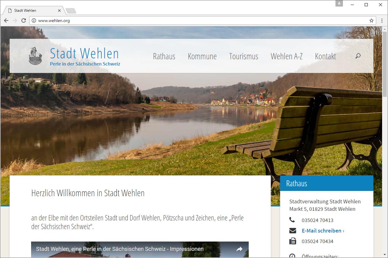 neue Website Stadt Wehlen