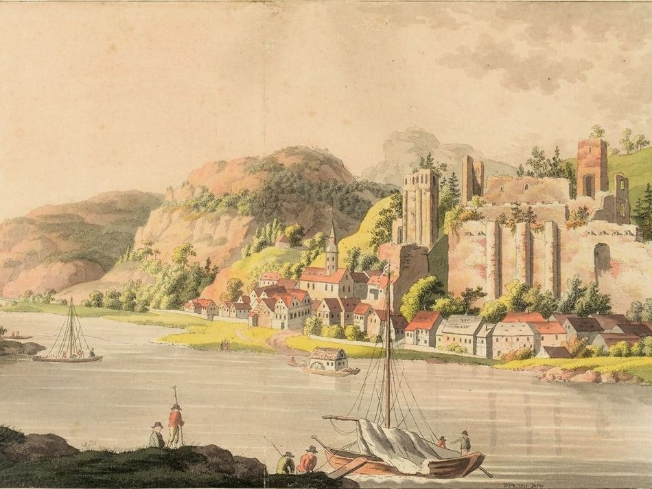 Blick aus dem 18 Jahrhundert (© Burgfreunde)